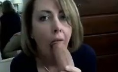 Hot amateur MILF giving a perfect blowjob