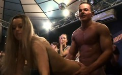 Yong attractive cuties in club are happy to fuck