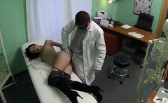 Small tits brunette milf gets fucked by doctor