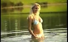 Blonde Beach Babe Being A Tease