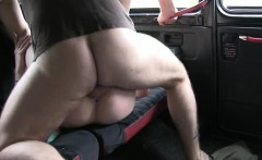 Big juggs slut pussy fucked by fake driver for a free fare