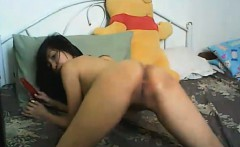 Asian Hot Babe Rides her Dildo Good