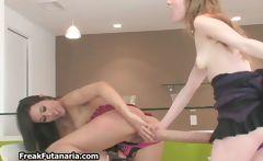 Petite brunette girl gets her tight