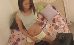 Horny Petite Asian Rides Sybian First Time
