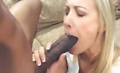 Blonde Angel Long gets a big black cock pounding her first time