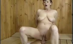 Hairy granny pussy fucking