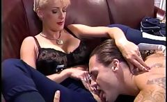 Sally Layd is a mature blonde who gets screwed by Jack Hammer