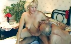 Old milf having steamy sex with two