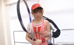Asian sports player pussy teased by coach